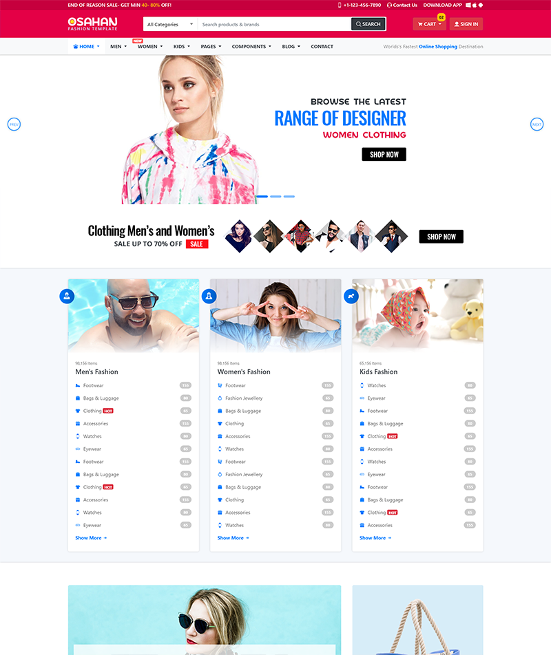Osahan Fashion - Bootstrap 4 Template Live Preview | WrapBootstrap