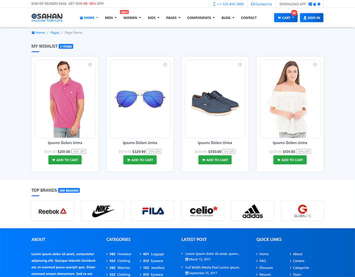 Osahan Fashion - Bootstrap 4 E-Commerce Theme