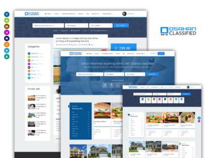 Osahan classified Bootstrap Responsive Website Template