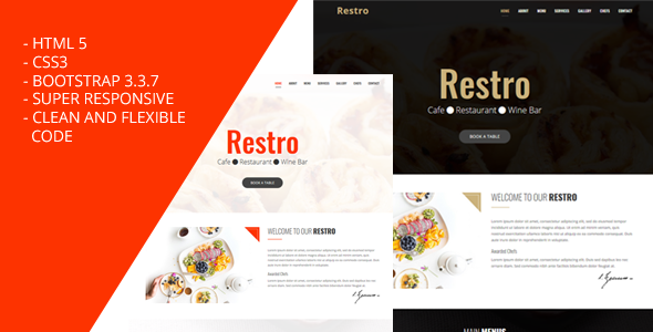 Restro – Bootstrap Responsive Restaurant Template – Ask Bootstrap